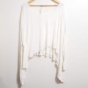 Free People Hi-Lo Ribbed Knit Sweater Size Medium